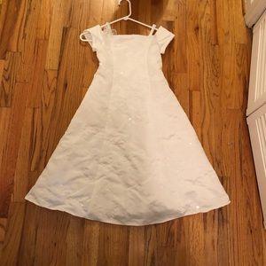 🌹 flower Girl dress white beautiful sz 7